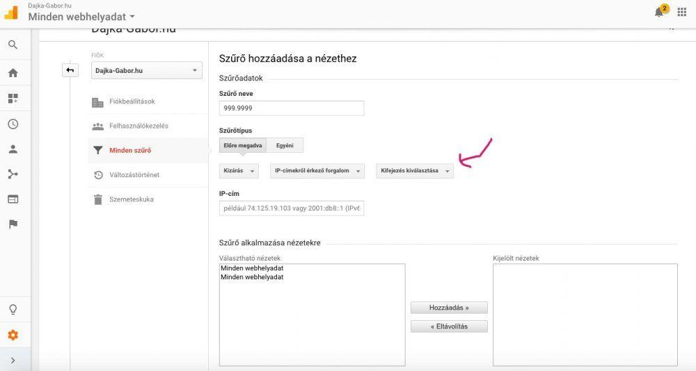 Így zárd ki a saját és kollégáid IP-címeit az Analytics-ból